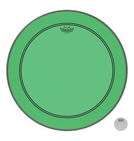 Remo Powerstroke P3 Colortone Green Bass Head 26in 5in Offset Hole