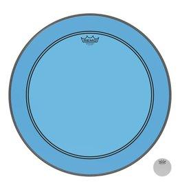 Remo Peau Powerstroke P3 Colortone Bleu Bass 22po 5po Offset Hole