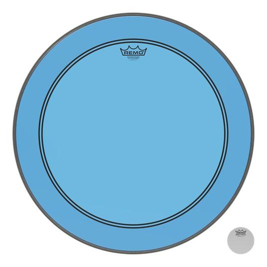 Remo Peau Powerstroke P3 Colortone Bleu Bass 26po 5po Offset Hole