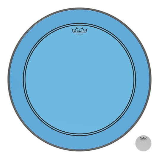 Remo Powerstroke P3 Colortone Blue Bass Head 26in 5in Offset Hole