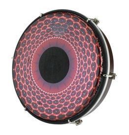 Remo Tambour sur cadre Remo Tablatone Red Radial Flare 2X12po