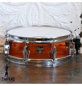 Fibes Used Fibes Acrylic Orange Snare Drum 12X4in