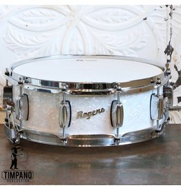Rogers Rogers Dyna-Sonic White Marine Pearl Snare Drum 14X5in