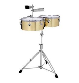 "Gon Bops Gon Bops Alex Acuna Series 14"" & 15"" Brass with Stand and Cowbell Holder"
