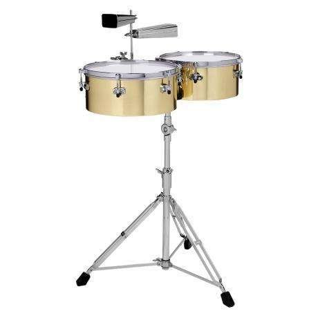 """Gon Bops Gon Bops Alex Acuna Series 14"""" & 15"""" Brass with Stand and Cowbell Holder"""