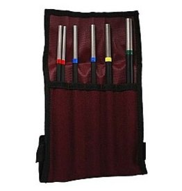 Grover Standard Alloy Tubular Triangle Beater Set (6 Pc) with Case
