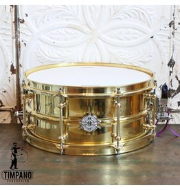 DUNNETT Dunnett 2N Triple Brass Snare Drum 14X6.5in