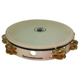 Black Swamp Percussion Black Swamp Overture Maple/Brass Synthetic Skin Tambourine 10in