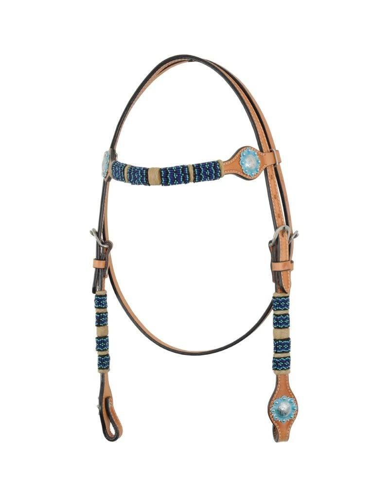 Country Legend Headstall w/ Rawhide and Turquoise Beads