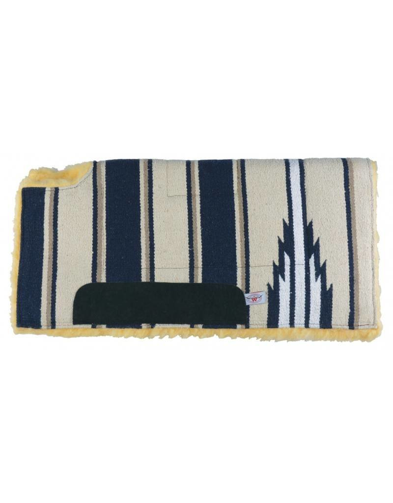 WESTERN RAWHIDE Navajo Felt Lined Wool Pad w/ Wither Cutout