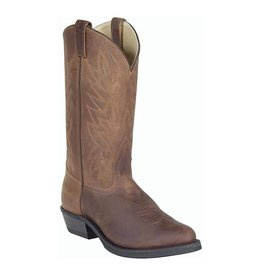 CANADA WEST Men's Pointed Toe Boot Crazy Horse Brown