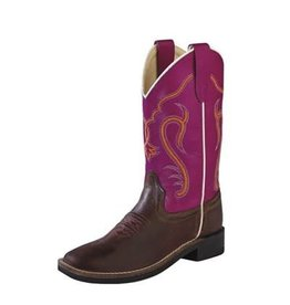 OLD WEST Youth Square Toe Cowboy Boot