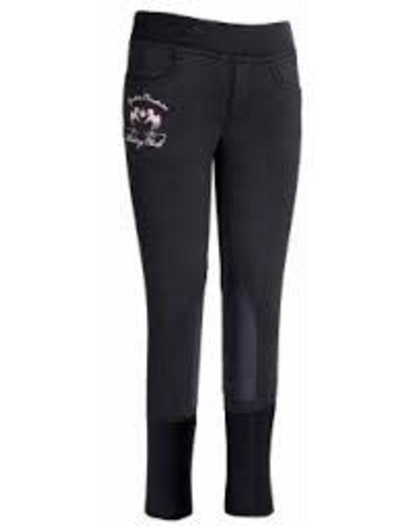 Equine Couture Children's Fleece Breech Black