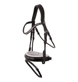 BR EQUESTRIAN BR Eston Patent Leather Bridle with Crystal Size Full
