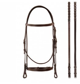 Bobby's Snaffle Bridle Brown - Cob