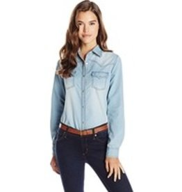 WRANGLER Wrangler Ladies' Long Sleeve Denim Shirt