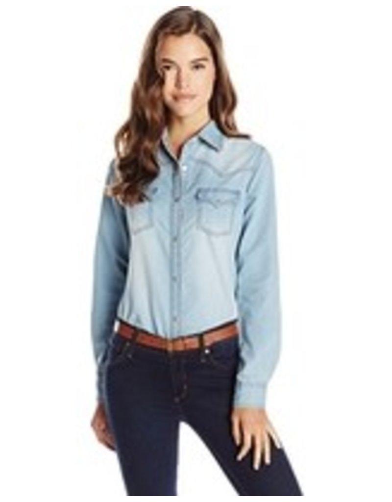 2c2c921e2d2 WRANGLER Wrangler Ladies  Long Sleeve Denim Shirt - Mackenzie Moore ...