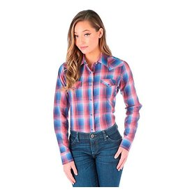 WRANGLER Wrangler Ladies' Long Sleeve Plaid Shirt