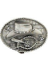 Hat & Spur Belt Buckle