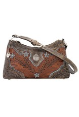 American West Desert Wildflower Shoulder Bag Antique Brown