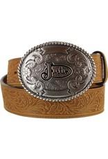 Justin Floral Tooled Trophy Belt