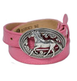 JUSTIN Girls' Lil' Beauty Belt-Pink