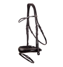 BR EQUESTRIAN BR Bristol Dressage Bridle with Silver Buckles- Full