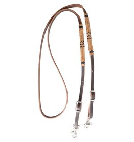 MARTIN SADDLERY Roping Rein with Rawhide Accents