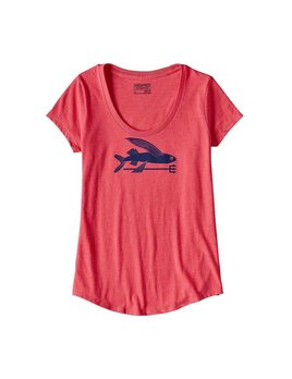 Patagonia Patagonia Women's Flying Fish Cotton/Poly Scoop T-Shirt