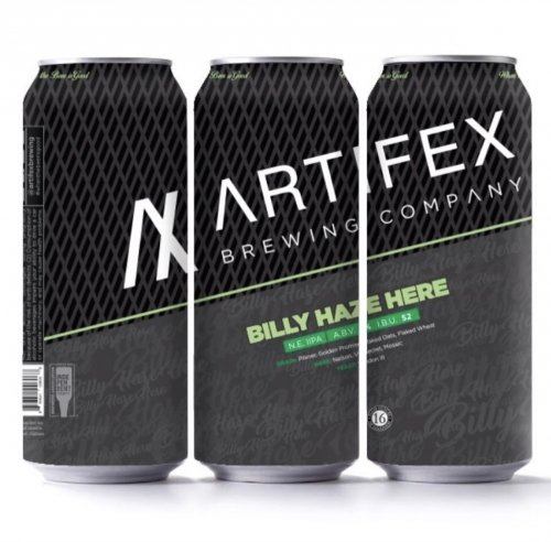 Artifex (BLACK) Brewing Company Billy Haze Here NEIIPA 16oz 4Pk Cans
