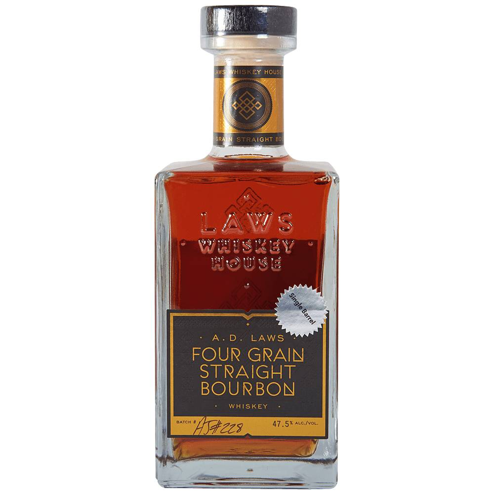 A.D. Laws Four Grain Straight Bourbon Whiskey 95Pf. 750ml