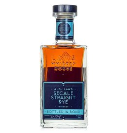A.D. Laws Secale Straight Rye Bottled-In-Bond Batch# C-17-F 100Pf. 750ml