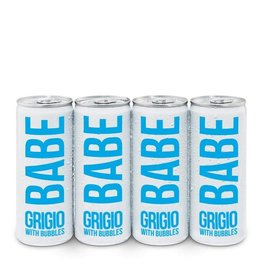 Babe Grigio With Bubbles 250ml 4Pk Cans