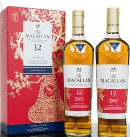 The Macallan Highland Single Malt Scotch Whiskey 12Yrs. Limited Edition Chinese New Year Double Cask 2-750ml Bottles
