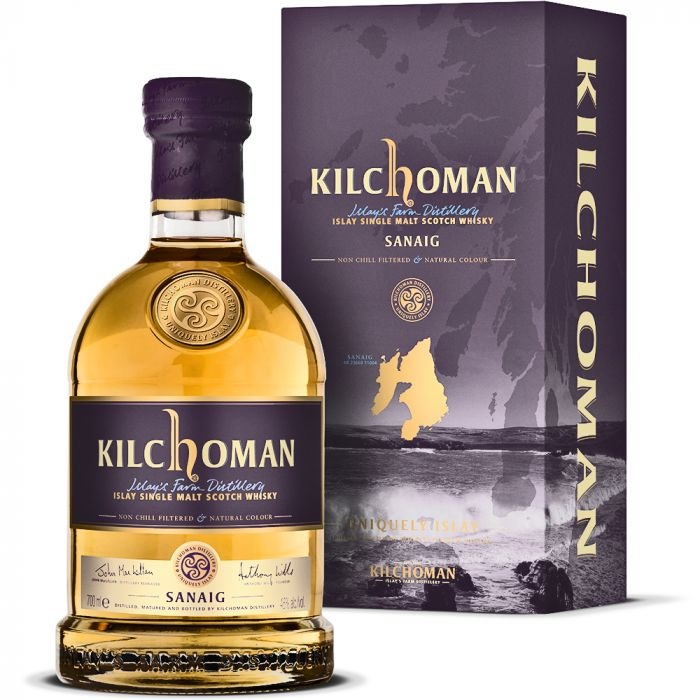 Kilchoman Islay Single Malt Scotch Whisky Sanaig Bourbon Cask Influence