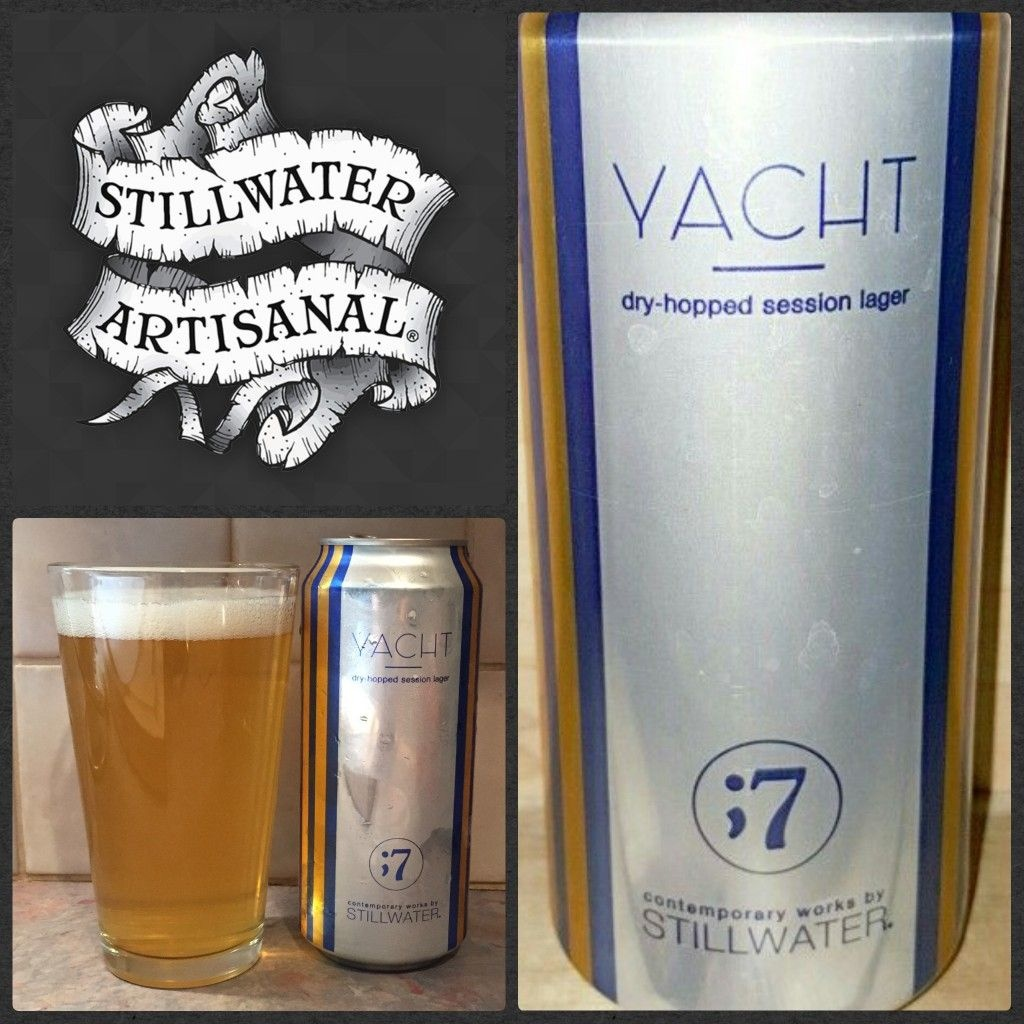 Stillwater Yatch Dry Hopped Session Lager 16oz 4Pk Cans
