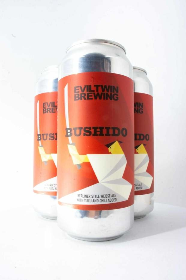 Evil Twin Bushido Berliner Style Weisse Ale With Yuzu & Chili Added 16oz 4Pk Cans