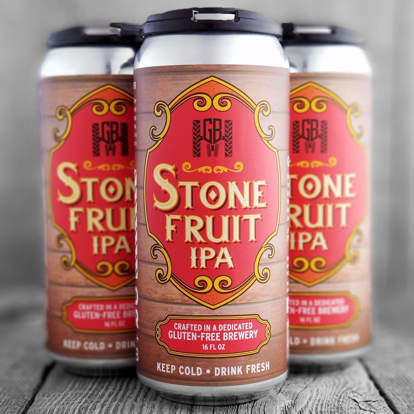 Groundbreaker Brewing & Gastropub Stone Fruit IPA Gluten-Free Ale Brewed With Apricots, Cherries & Peaches 16oz 4Pk Cans