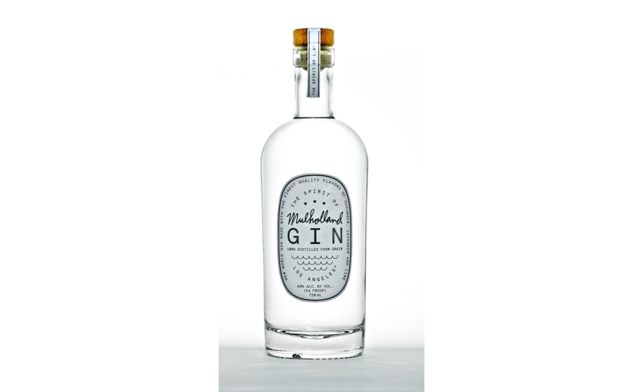 Mulholland Gin Distilled From 100% Corn 96 Pf. 750ml