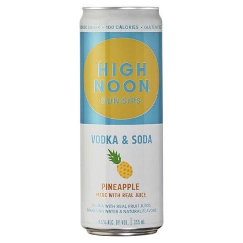 High Noon Sun Sips Pineapple Vodka & Soda 12oz 4Pk Cans