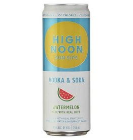 High Noon Sun Sips Watermelon Vodka & Soda 12oz 4Pk Cans