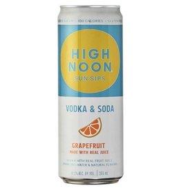 High Noon Sun Sips Grapefruit Vodka & Soda 12oz 4Pk Cans