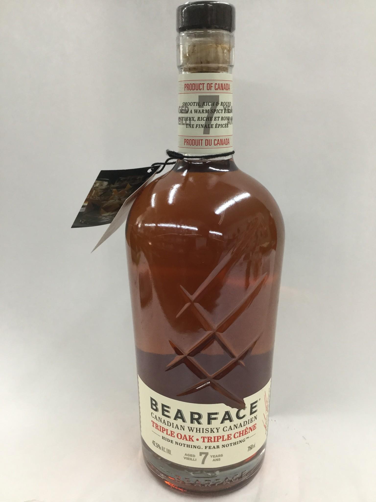 Bearface Triple Oak Canadian Whiskey 7Yrs. 85Pf. 750ml