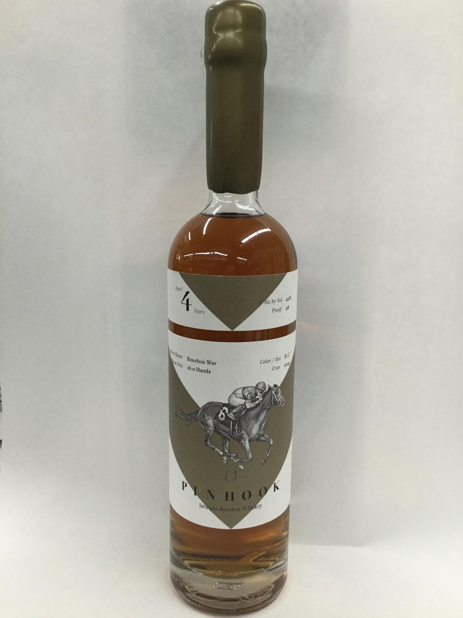 Pinhook Straight Bourbon Whiskey Vertical Series Bourbon War Crop 2019 4Yrs. 98Pf. 750ml
