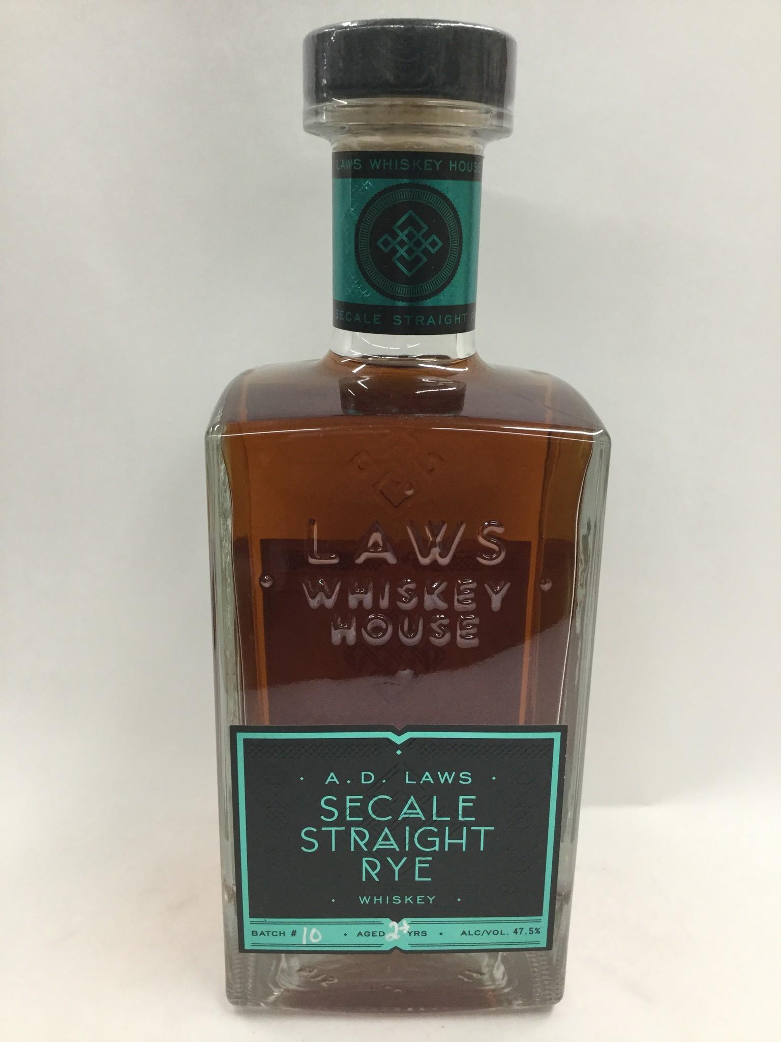 Laws San Luis Valley Straight Rye Whiskey 95Pf. 750ml