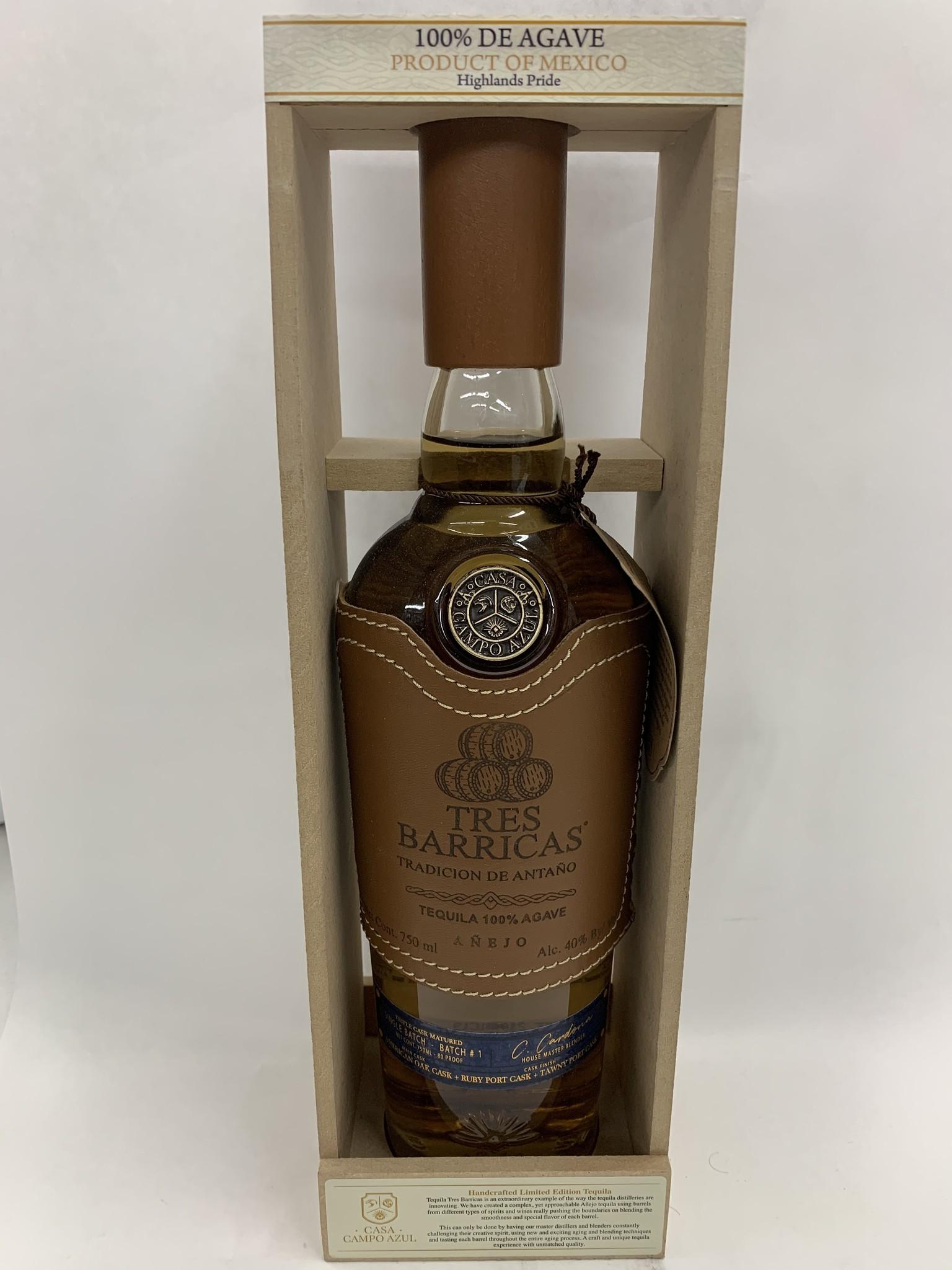 Tres Barricas Tradicion De Antano Anejo Tequila 750ml