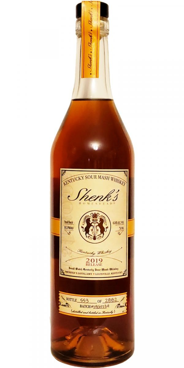 Shenk's Sour Mash Whiskey 2019 Release Small Batch 750ml