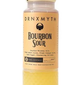 DRNXMYTH Bourbon Sour Bourbon Whiskey With Fresh Lemon Juice, Fresh Orange Juice, Cane Sugar, Blackstrap Bitters 200ml