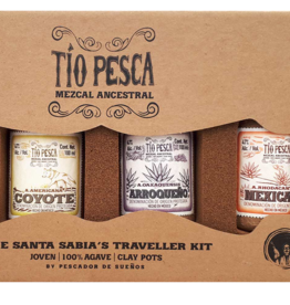 Tio Pesca Mezcal Ancestral The Santa Sabia's Traveller Kit 4x100ml