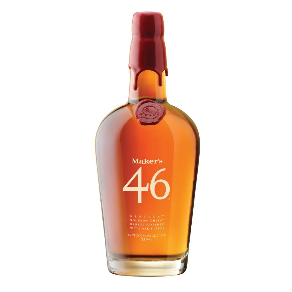 Maker's Mark 46 Kentucky Bourbon Whiskey Finished With Oak Staves 750ml